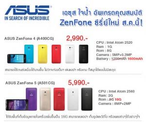 Asus ประกาศอัพเกรดมือถือรุ่น ZenFone 4 และ ZenFone 5  เร็วๆนี้