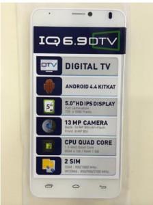 มือถือi-mobile IQ 6.9 DTV สนับสนุนทีวีระบบดิจิตอล (DVB-T2) ดูฟรี ไม่ต้องต่อเน็ต