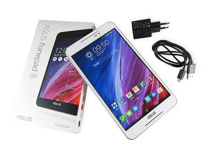 ASUS Fonepad 8 แท็บเล็ตโทรได้ รองรับ 3G จอ 8 นิ้ว ที่หลายคนกำลังตามหามาไว้ใช้งานเครื่องนี้ ด้วยความสามารถที่เกินราคา และสเปคที่ไม่ไก่กา ทำเอาแบรนด์ดังๆหนาวได้ไม่น้อย และได้มีการปรับปรุ่งเรื่องความสว่างของหน้าจอมาแล้วจากรุ่นเก่า จอแสดงผล IPS ขนาด 8 นิ้ว ความละเอียด 1280 x 800 พิกเซล รองรับระบบสัมผัสมัลติทัชตัวเครื่องกว้าง 120 มิลลิเมตร สูง 214 มิลลิเมตร หนา 8.9 มิลลิเมตร น้ำหนัก 310 กรัม ตัวเครื่องอาจจะหนาไปสักหน่อยเมื่อเที่ยบกับ แท็บเล็ต ที่ว่างจำหน่ายอยู่ สเปคด้านการทำงานของASUS Fonepad 8 (FE380CG) ใช้ตัวประมวลผลเป็นIntel Atom Z3560 (Quad-Core) ความเร็ว 1.83 GHz, RAM 1GB มีหน้าจอแสดงผล IPS ขนาด 8 นิ้ว ความละเอียด 1280 x 800 พิกเซล ลำโพงคู่ด้านหน้าที่มีเทคโนโลยี SonicMaster ให้เสียงดังสมจริง ถ่ายภาพได้อย่างคมชัดด้วยกล้องเทคโนโลยี PixelMaster ความละเอียด 5 ล้านพิกเซล ใช้งานวิดีโอคอลล์ได้ด้วยกล้องด้านหน้าความละเอียด 2 ล้านพิกเซล และรันบนแอนดรอยด์เวอร์ชั่น 4.4.2 KitKat ASUS Fonepad 8 (FE380CG)วางจำหน่ายที่ ราคา 7,990 บาท