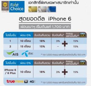 ผ่อน iphone 6 เฟริสช้อย