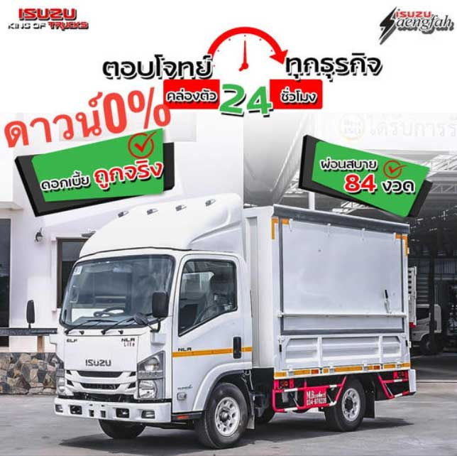 ISUZU-NLR-Lite-ราคา โปรโมชั่น